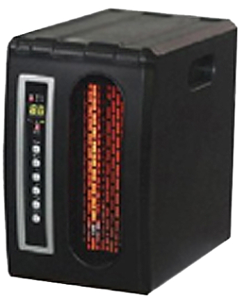 QDE1320 HEATER COMPACT INFRARED BLACK