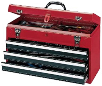 RG-920 20  3 DRAWER PORTABLE TOOL CHEST RED