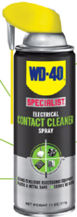 300554 11oz Black Silver Contact Cleaner