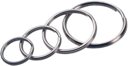 701288 Assorted Sizes Nickel-plated Split Key