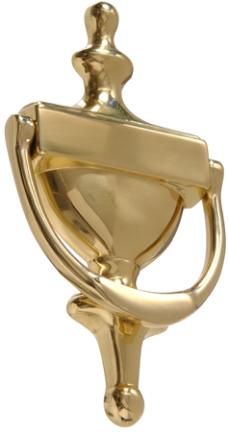 852393 6-1/2  Solid Brass Door Knocker