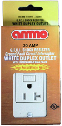 Trwr-20-wh White 20 A. Tamper Resistant Gfci