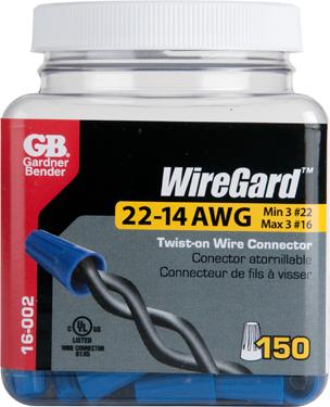 16-002n 22-14awg Wire Conn Blue 150/jar