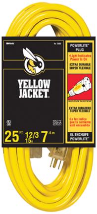 2886 CORD 25 FT 14/3 SJTW YELLOW JACKET