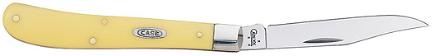 031 Knife Yellow Slimline Trapper