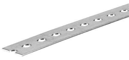 11095 1-3/8x5 Ft Zinc Slotted Flat
