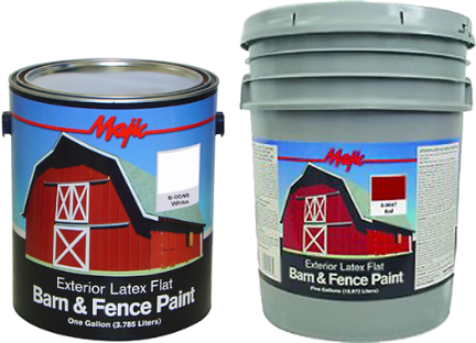8 0048 1 Paint Gal Black Flat Barn Latex Products The
