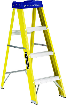 FS2004 LADDER 4FT YELLOW FBRGLS STEP