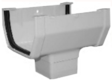 RW104 GUTTER WHITE DROP OUTLET