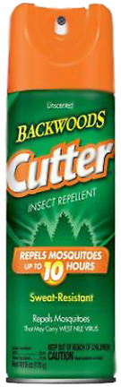 HG96280 CUTTER BACKWOOD  REPEL AER 25% DEET 6OZ