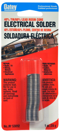 53012 1OZ 40/60 ROS CORE IN DISPENSER TUBE