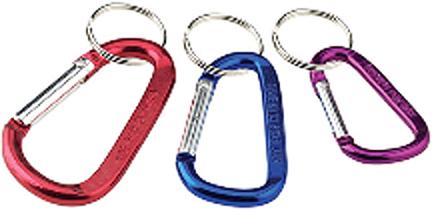07249 Carabiner Key Klips  3pk