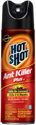HG4480 HOT SHOT ANT  KILLR PLUS AEROSOL 16OZ