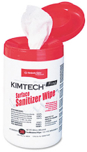 58040 SANITIZER WIPE BY KIM TECH WALL MOUNTABLE