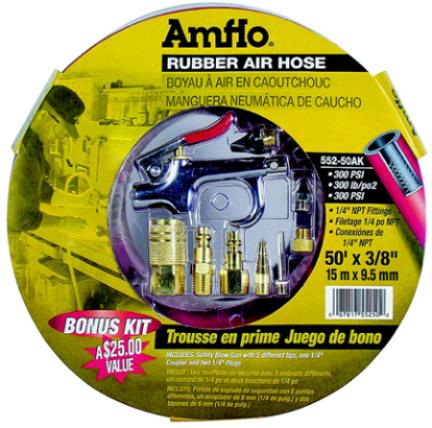 552-50ak Hose 3/8x50 Rubber Air