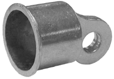328550c Chain Link Rail End 1 3/8 Aluminum