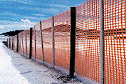 190042 4 X50  Orange Sno-guard Snow Fence