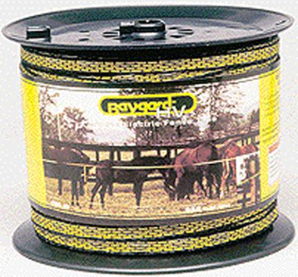 00129 Fence Tape Hi-vis 656  Yellow/black