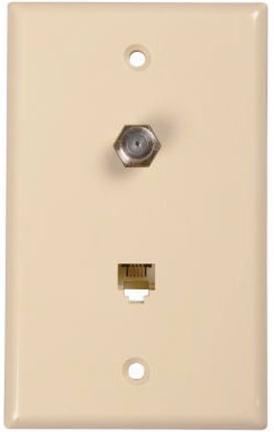 Tp062r Ivory Phone/coax Plate