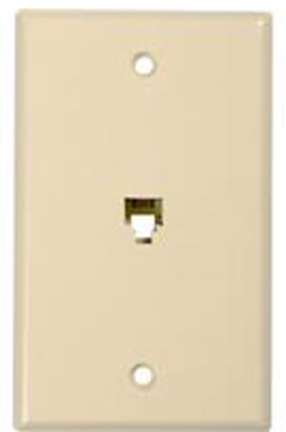 Tp247r Ivory Phone Wall Plate