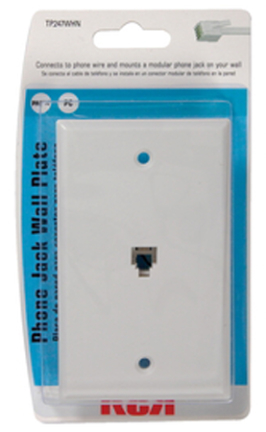 Tp247whr White Phone Wall Plate