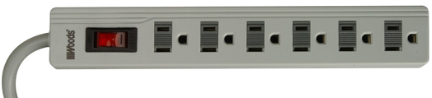 041345-78-01 Surge Strip 6 Outlet 2ft