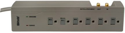 41494 Surge 6 Outlet Protector 4ft