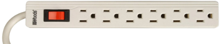 41366 Power Strip 6 Outlet 1.5ft