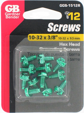 GGS-1512R RND HEAD GROUNDSCREW 12/CARD