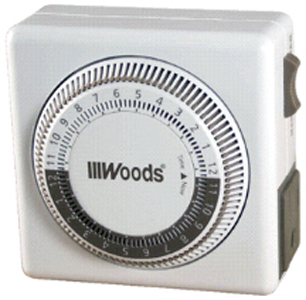 50000WD TIMER INDOOR 24 HR MECH 2 CONDUCTOR