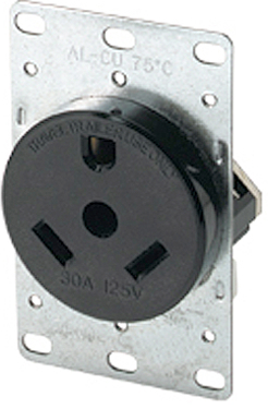 1263-BOX RECEPTICAL 30AMP GRND RECPT 3-WIRE