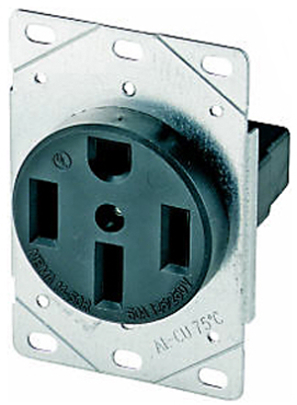 1258-sp Receptacle 50a 3p4w Flush