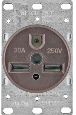 1234-box Recept 30a 250v Flush 2p3w