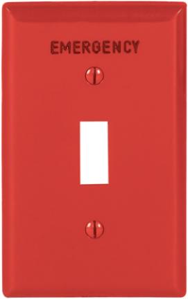 EM5134RD-BOX RED EMERGENCY SINGLE GANG WA