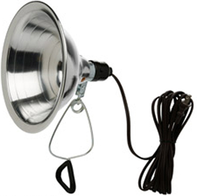 169 CLAMP LIGHT 6 FT CORD 8 1/2 IN REFLECTOR