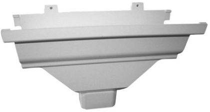 27-010(5537) White Alum End Cap W/outlet