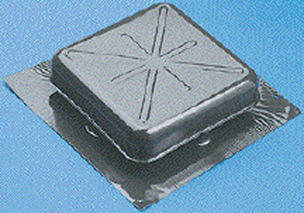 Stv51bl rv 51blk alum sqdome roof vents products the for Chimney rain diverter