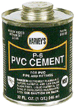 018150-24 PVC CEMENT MED 4OZ CLEAR