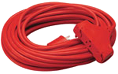 04219 Power Block 3-way 14/3 Sjtw 100  Red(org)