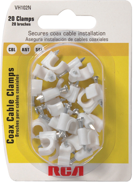 Vh102r 24pk White Coax Cable Clips