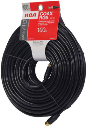 Vhb6111r 100ft Black Rg6 Coax Cable