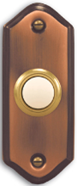 924 Button Copper Push Button - Lighted