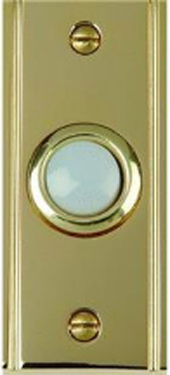 Dh1630l Button White Lighted With Solid Brass