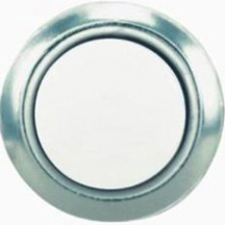 Dh1201 Push Button White With Silver Rim