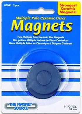 07041 Ceramic Disc Magnets Multi Pull-2 Pcs