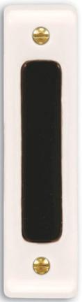 711w-a White Push Button-black Bar