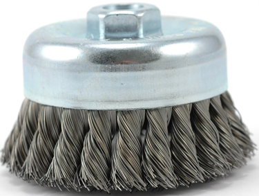 26063 4  KNOTTED CARBON STEEL CUP BRUSH