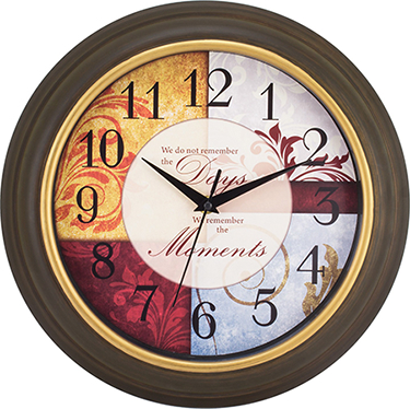 84601 WALL CLOCK 11 1/4 IN INSPIRATIONAL