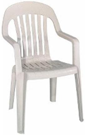 8254-48-3700 White High Back Chair