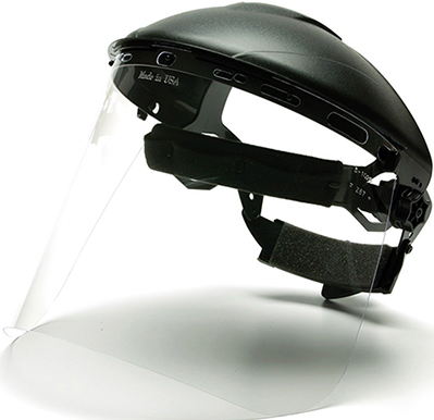 S1020 8X15 FACE SHIELD FOR HGB HEADGEAR CLEAR .